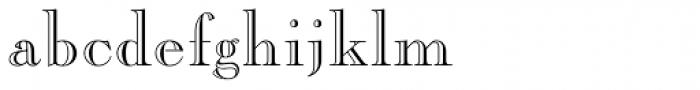 Caslon Open Face Font LOWERCASE
