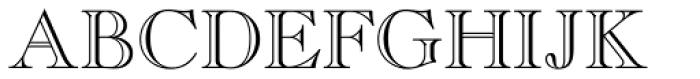 Caslon Openface Font UPPERCASE