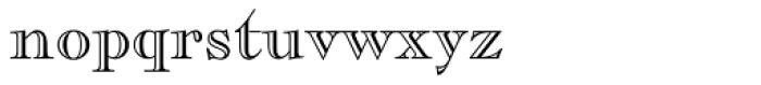 Caslon Openface Font LOWERCASE