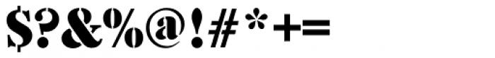 Caslon Stencil D Font OTHER CHARS