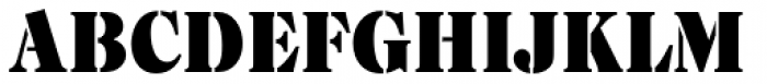 Caslon Stencil D Font UPPERCASE