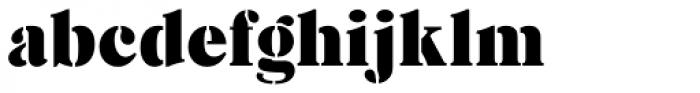 Caslon Stencil D Font LOWERCASE