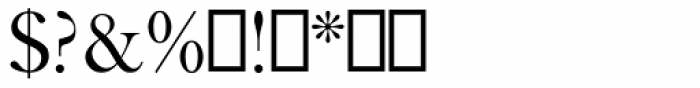 Caslon Titling MT Font OTHER CHARS