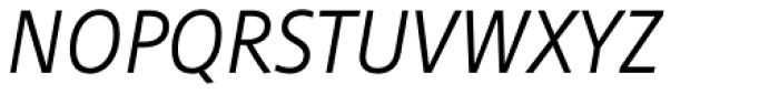 Cast Light Italic Font UPPERCASE