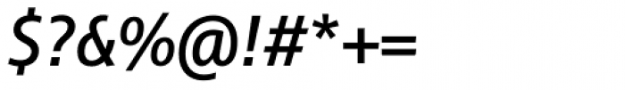 Cast Medium Italic Font OTHER CHARS