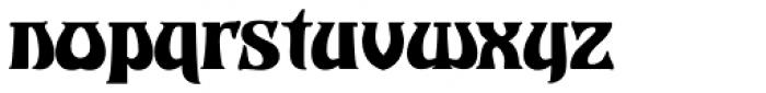 Castle Squat Font LOWERCASE