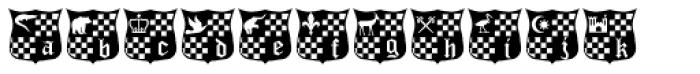 Castles&Shields Font LOWERCASE