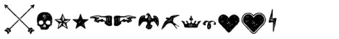Castor Ornaments Font LOWERCASE