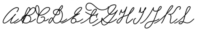 Castro Script Font UPPERCASE
