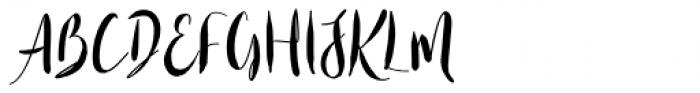 Casual Mark Script Bold Font UPPERCASE
