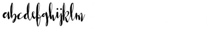 Casual Mark Script Bold Font LOWERCASE