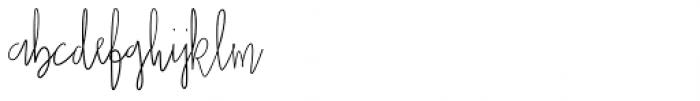 Casual Mark Script Font LOWERCASE