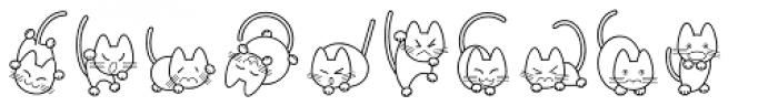 Cat Cat Cat D Font LOWERCASE