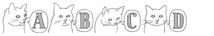 Cat Talk Stripe Font UPPERCASE