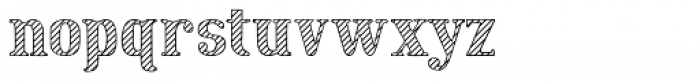 Cat Talk Stripe Font LOWERCASE