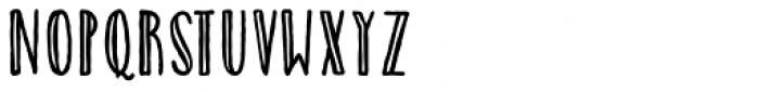 Catalina Avalon Sans Inline Font LOWERCASE