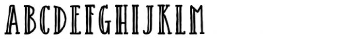 Catalina Avalon Slab Inline Font LOWERCASE