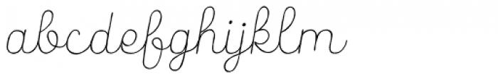 Catalina Script Light Italic Font LOWERCASE