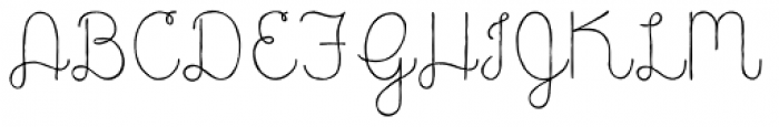 Catalina Script Light Font UPPERCASE