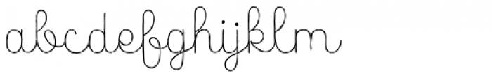 Catalina Script Light Font LOWERCASE