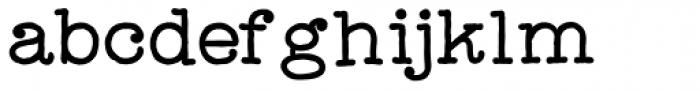Catalina Typewriter Bold Font LOWERCASE