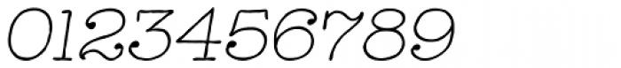 Catalina Typewriter Light Italic Font OTHER CHARS