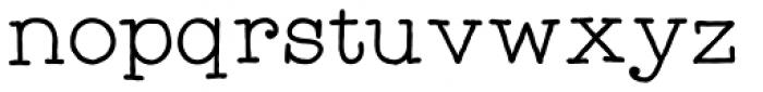 Catalina Typewriter Font LOWERCASE