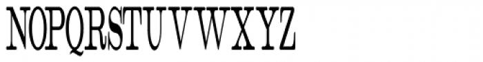 Catalog Serif Compressed JNL Font UPPERCASE