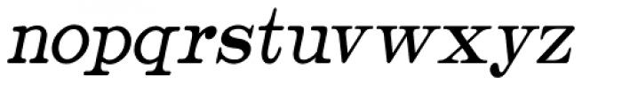 Catalog Serif Condensed Oblique JNL Font LOWERCASE
