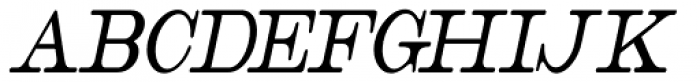 Catalog Serif Extra Condensed Oblique JNL Font UPPERCASE
