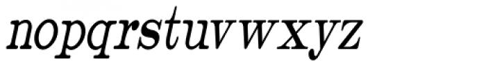 Catalog Serif Extra Condensed Oblique JNL Font LOWERCASE