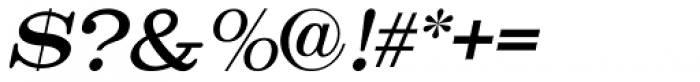 Catalog Serif Oblique JNL Font OTHER CHARS