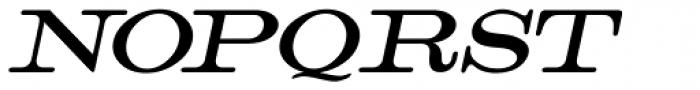 Catalog Serif Oblique JNL Font UPPERCASE