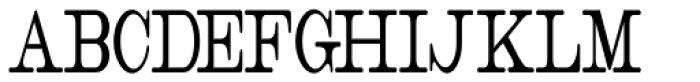 Catalog Serif Ultra Condensed JNL Font UPPERCASE