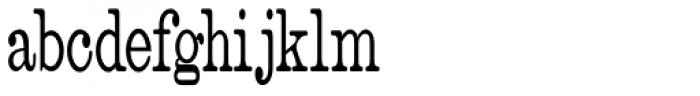 Catalog Serif Ultra Condensed JNL Font LOWERCASE