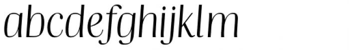 Catalyst Light Display Italic Font LOWERCASE