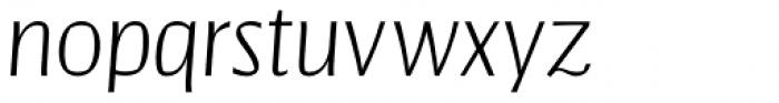 Catalyst Light Italic Font LOWERCASE