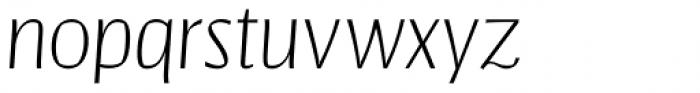 Catalyst Thin Italic Font LOWERCASE