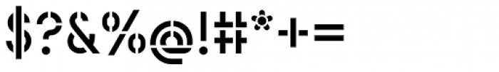 Catenary Stencil Font OTHER CHARS