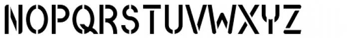 Catenary Stencil Font UPPERCASE