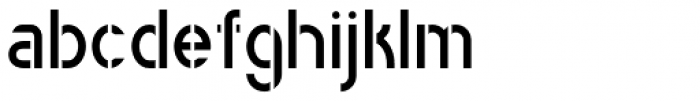 Catenary Stencil Font LOWERCASE