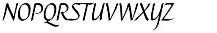 Caterina Light Italic Font UPPERCASE