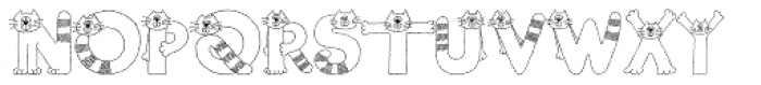 Cats Font LOWERCASE