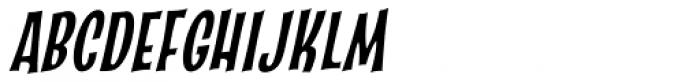 Catseye Cyrillic Narrow Italic Font UPPERCASE