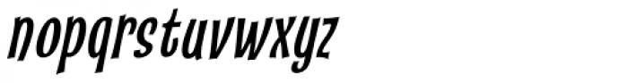 Catseye Cyrillic Narrow Italic Font LOWERCASE