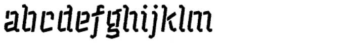 Catshape Alquitran Stencil Font LOWERCASE