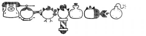 Catshape Rough Font LOWERCASE