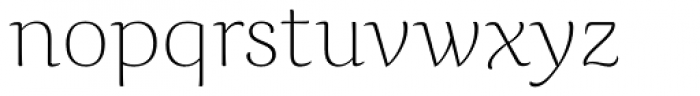Caturrita Display Thin Font LOWERCASE