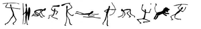 Caveman Dingbats One Font LOWERCASE