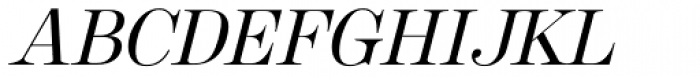 Cavetto Italic JF Font UPPERCASE